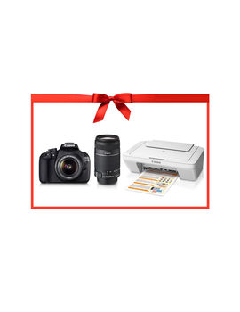EOS 1200D Dual Kit (EF S18-55 IS II & EF S55-250 IS II) PIXMA MG2570