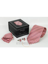 Silk Necktie Cufflinks Gift Set (Multicolor)