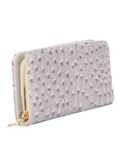 SkyWays Artificial Leather Wallet For Woman, Grey