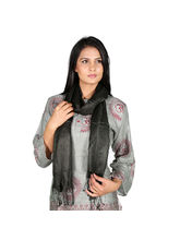 Rivayat Classic Silk Carry Women Scarf, Black