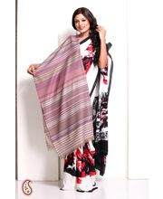 Pastel Shades Vertical Stripes Soft Pashmina Shawl (Multicolor)