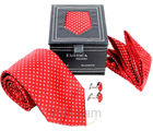 Necktie Gift Set In Leatheritte Packing Necktie (Red)