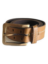 Renz Men's Canvas Belt, 32, Brown