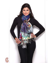 Sumptuous Floral And Abstract Design Woollen Stole (Multicolor)