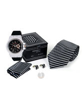 Men Wrist Watch Necktie Gifts (Multicolor)