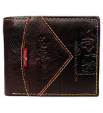 Kavis Genuine Leather Stylish Men Wallet (KA-8937), brown
