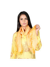 Rivayat Yellow Polyester Women Scarf, Yellow