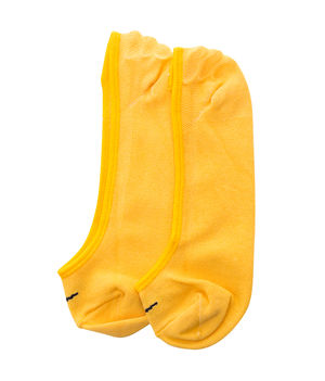 Peds Socks (Set Of 2),  anthra melange/yellow, 20 cm