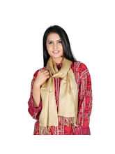 Rivayat Skin Color Polyester Women Scarf, Light Gr...