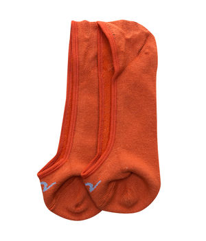 Peds Socks (Set Of 2), 20 cm,  burnt orange/skin colour