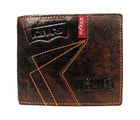 Genuine Leather Kavis Men Wallet Brand New (KA-P), brown