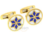 Orosilber Gold Cufflinks (Multicolor)