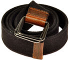 Premium Black Canvas Stylish Casual Belt (Black, 28)