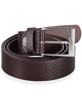 Basket Texture Tan Brown Pure Leather Belt (TanBrown)