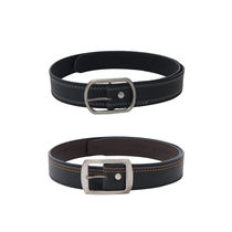 SkyWays Leatherette belt For Men,  black