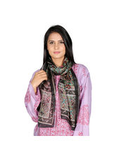 Rivayat Pure Silk Printed Scarf For Women, Black