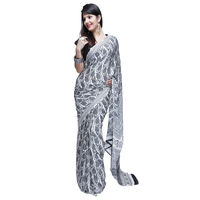 Fav Diva Chinon Crepe Saree, multicolor