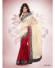 Touch Trends Banarsi Jari Silk With Jute Butti Designer Sarees - 254_ B, Multicolor