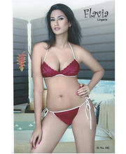 Flavia Honeymoon Queen Two Piece Set (Maroon)