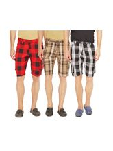 Wajbee Set of 3 Men's Cargo Shorts, multicolor, 36
