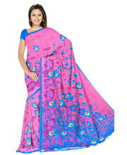 Designer Art Silk Saree With Unstitched Blouse - 30342-PK, Pink