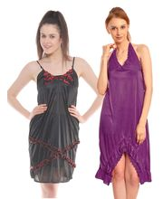 Klamotten Nightdress Combo Of Two Kn-135, Multicolor