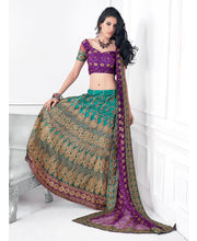 Hypnotex Cotton Designer Lengha Choli XLNC8009B, Multicolor