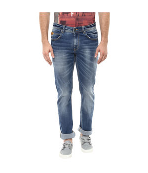 Slim Tapered Fit Jeans, 34,  mid blue