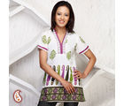 Gorgeous Short Kurti With Block Prints, multicolor, s