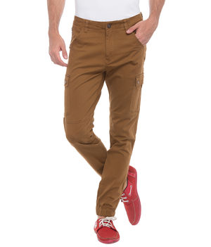 Printed Bone Pocket Chinos, 32,  khaki