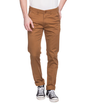 Printed Bone Pocket Chinos, 38,  khaki