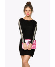 Miss Chase I'm Bad' Power Shoulder Bodycon Dress (MCPF13D02-06-62), Black, S