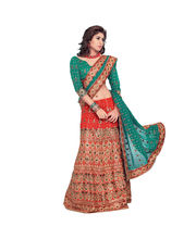 Hypnotex Cotton Designer Lengha Choli XLNC8010C, Multicolor