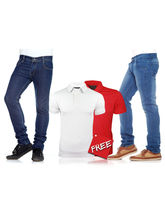 Stylox Buy Two Denims Get Two T-Shirts Free, 36, xl