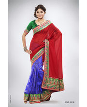Heavy Pitta Work With Jari & Contrast Thread Work Saree - 237_ B, Multicolor