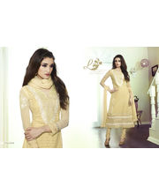 Touch Trends Pure Georgette A Line Salwar Suit Material - 35008, Beige