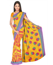 Designer Art Silk Saree With Unstitched Blouse - 30799-YL, Yellow