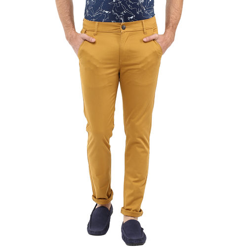 Cross Pocket Slim Fit Trouser, 36,  golden khaki