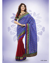 Touch Trends Banarasi Silk With Jute Jaquard Designer Sarees - 256_ B, Multicolor