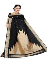 Beautiful Silk Saree 286 (Black)