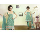 Touch Trends Pure Georgette A Line Salwar Suit Material - 35007, green