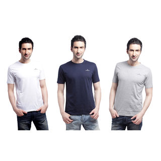 Crosscreek Round Neck Basic T-Shirt (3 Pc Combo) - 810001, Multicolor, Xl