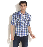 TOG Bold Check Button Down Pocket Shirt, medium blue, l