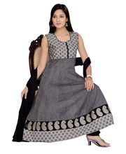 Designer Idha Anarkali suit for women - BA1049, grey,...