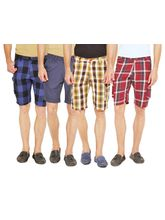 Wajbee Set of 4 Men's Cargo Shorts, multicolor, 38