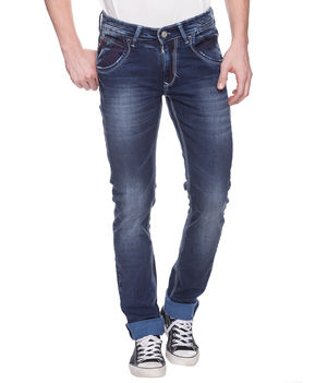 Skinny Low Rise Narrow Fit Jeans, 28,  mid blue