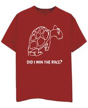 Champu Did I Win The Race Men's T-Shirt CHMP_ MT_ 32, Red, L