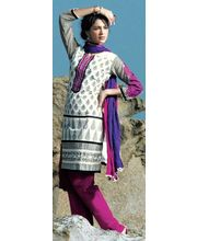 Multy Color Kurta With Intricate Machine Work & Churidar