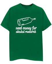 Champu Alcohol Research Men's T-Shirt CHMP_ MT_ 09, Green, S