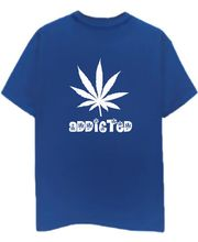 Champu Addicted To Weed Men's T-Shirt CHMP_ MT_ 146, Blue, L